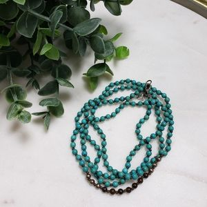 Silpada Great Lengths Howlight Turquoise Necklace